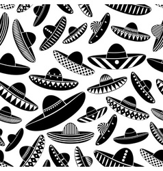 Mexico sombrero black hat variations icons vector