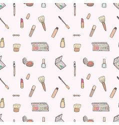 Seamless of Makeup set vector image