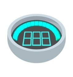 Dashboard indicator icon cartoon style vector image