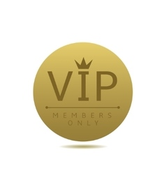 Golden vip card vector