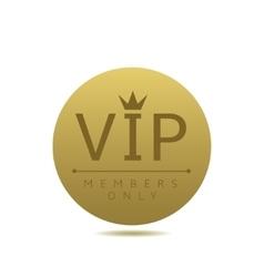 Golden Vip card vector image