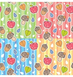 Autumn patterns vector