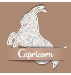 Background with zodiac sign Capricorn vector image vector image