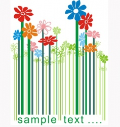 barcode floral vector image vector image