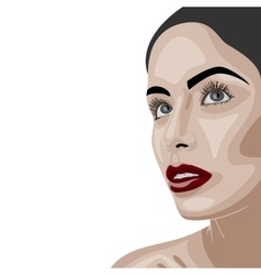 Beauty brunette woman with clean skin vector