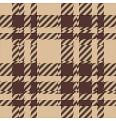 Beige brown check plaid seamless pattern vector image vector image