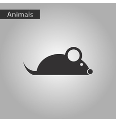 black and white style icon mouse vector image vector image