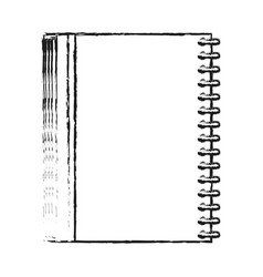 blurred silhouette image notebook spiral closed vector image vector image