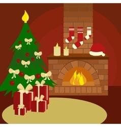 Christmas still life cartoon vector image vector image