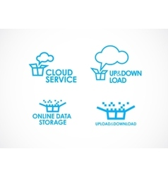 Cloud Logo Services vector image