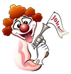 Clown with a gun vector