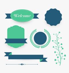 elegant various design decorative element vector image