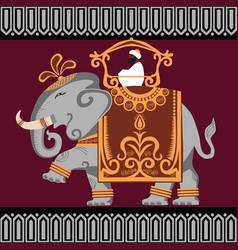 elephant india vector image vector image