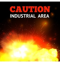 Explosion Fire Background vector image vector image