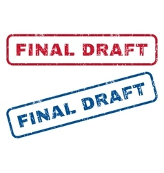 Final draft rubber stamps vector