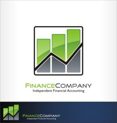 finance logo vector image vector image