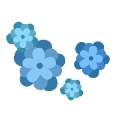 Flower icon nature flat vector