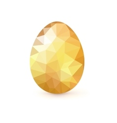 Golden egg from the mosaics pattern triangles vector image vector image