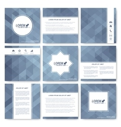 Grey set of brochure square brochure template vector
