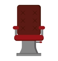Hair salon chair icon vector