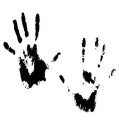 Handprint hands black vector image
