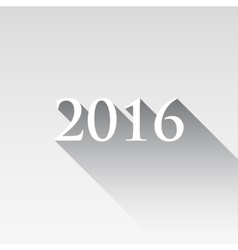 Happy New Year 2016 message vector image