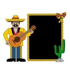 Hispanic man wearing a hat and with a guitar vector image vector image