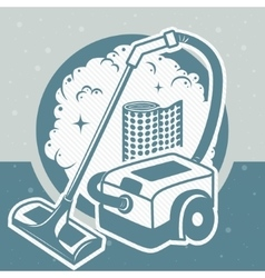 Industry vacuum cleaner vector