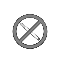 No smoking sign icon black monochrome style vector image