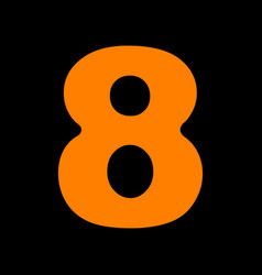 Number 8 sign design template element orange icon vector