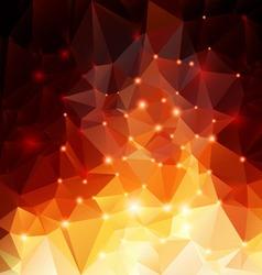 Orange polygonal background vector