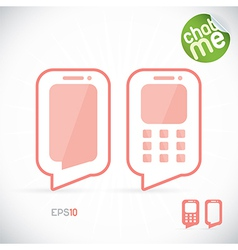 Phone chat vector