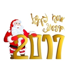 Santa claus congratulating vector