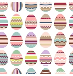 Seamless easter pattern with painted eggs vector image vector image