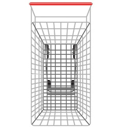 Shopping cart from topview vector image vector image