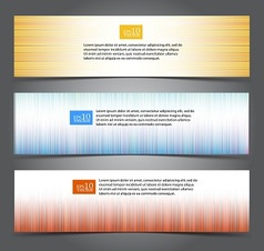 Striped web banners vector image vector image