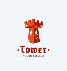 Tower as a letter t abstract sign emblem vector