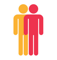 Two man sign people icon vector