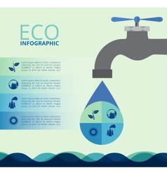 Water eco infographics vector image