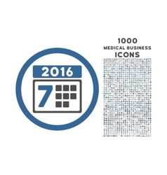 2016 week calendar rounded icon with 1000 bonus vector