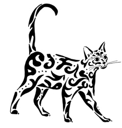 Graceful egyptian cat vector