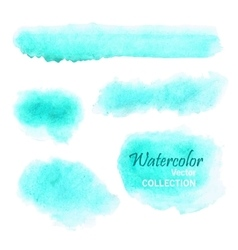 Set of smooth watercolor spots in soft pastel vector