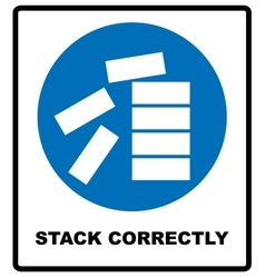 Mandatory stack correctly sign vector
