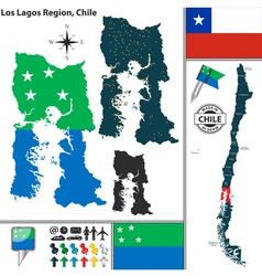 Map of Los Lagos vector image