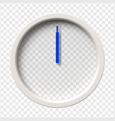 realistic wall clock vector image