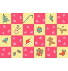 seamless merry christmas background vector image