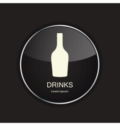 Food and drink metal application icons vector