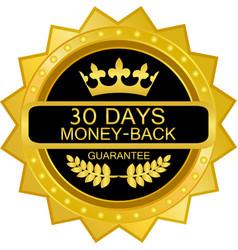 thirty days money back guarantee vector image