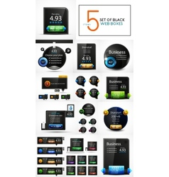 black web banners design collection vector image