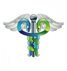 Caduceus doctors medical symbol vector